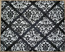 Black and White Damask French Memo Board - 16 x 20, optional cork or magnetic