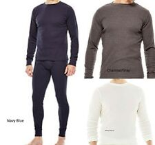 St. Johns Bay Mens 2pc Thermal Underwear Set Waffle Knit Top Bottom M L XL