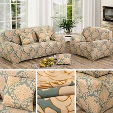 1/2/3Seater Flower Fit Stretch Sofa Slipcover Couch Damask Fabric Protector Set