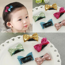 10pcs/lot Kids toddler Baby Girls hair bow with clips hairpins Hair accessories