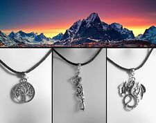 Lord of the Rings Thong Necklace White Tree of Gondor Middle-earth Dragon Smaug