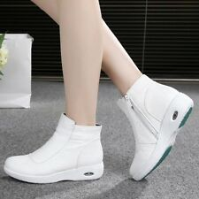 Hot Nurse Shoes Comfy Air Cushion Hospital Doctor Shoes Side Zip Work  Boots