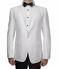 White Semi Slim Fit Dinner Suit With White Satin Shawl Lapel