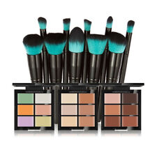 6 Colors Camouflage Contour Concealer Palette with 10 Cosmetic Makeup Brush Set