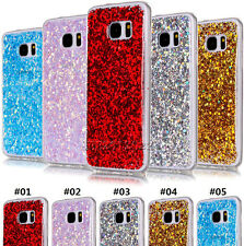 Bling Glitter Sequins Soft TPU Silicone Phone Case Cover For Samsung/Huawei/LG