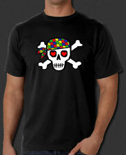 Autism Awareness Support Donate Skull Design New Black T-Shirt S-6XL
