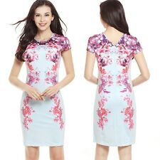 Women Floral Summer Dress Casual Bodycon Mini Dress Evening Party Cocktail Dress