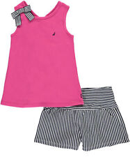 "Nautica Little Girls' Toddler ""Bowed Voyage"" 2-Piece Outfit (Sizes 2T - 4T)"
