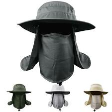 Hiking Fishing Hat Outdoor Sport Sun Protection Neck Face Flap Cap Wide Brim Hot