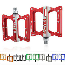 New 6 Bearing Bike Bicycle Pedals Flat Aluminum Sealed Ever Lubricate Axle 9/16