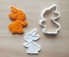 Easter Bunny Cookie Cutter and Stamp Set / Rabbit Cookie cutter/ Party Favor