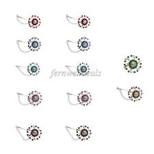 12 Pieces Women's Elegant Colored Rhinestone Scarf Pins Hijab Clips Safety Pins