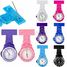 Colorful Nurse Watch Quartz Brooch Tunic Fob Plastic Pendant Clip Pocket Watches
