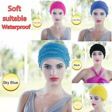 Ladies Swimming Hat Women Bathing Lace Cap Beach cap For Long Hair Swimming BE