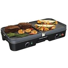 Indoor Electric Grill Hamilton Beach 3 In 1 Removable Cooking Grill And Griddle