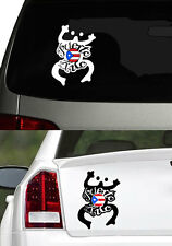 "Puerto Rico Vinyl Car Decal Sticker 7.5""(H) No3 Puerto Rican Flag & Frog Design"