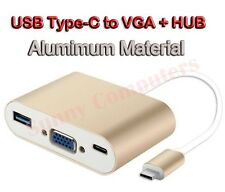 USB 3.1 Type-C to OTG & USB-C VGA & USB Female Charger HUB Adapter 2016 MacBook