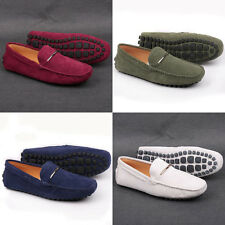 US 5-10 New Nubuck Leather Casual Slip On Loafer mens shoes moccasin