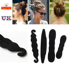 4 PCS Magic Sponge Clip Foam Donut Hair Styling Bun Curler Maker Ring Twist Tool