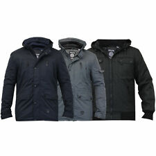 mens padded hooded jacket by Soul Star
