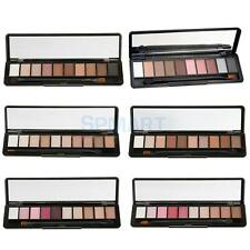 10 Color Shimmer Matte Eyeshadow Makeup Eye Shadow Shade Palette w/ Brush Kit