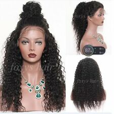 Brazilian Curly Lace Front Wig 100%Human Hair Full Lace Wig With Bleached Knots