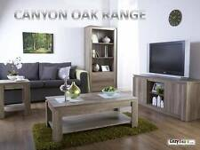 Canyon Oak Range Lamp Table Coffee Table TV Unit  - UNIQUE 3D OAK EFFECT FINISH