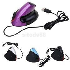 Healthy Wired Vertical Upright Ergonomic 1600DPI Optical Mouse for PC MAC Laptop