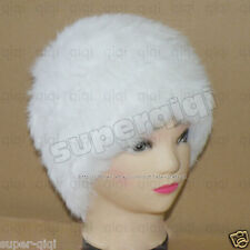 Low! New 100% Real Knitted Rabbit Fur Hat/Cap handmade Warm Winter Many Colors