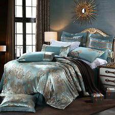 Luxury 100% Cotton Bedding Set Full Queen Duvet Cover Sheet 4PCS - Free Shipping
