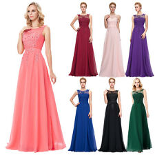 Formal Chiffon Ball Gown Evening Prom Party Wedding Dress Bridesmaids Size 6~20