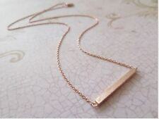 Tiny Rose Gold Necklace Delicate Gold Bar Necklace Simple Rose Gold Plated Daint