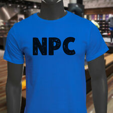 NPC GAMER BLACK VIDEO GAME HUMOR FUNNY GEEK NERD Mens Blue T-Shirt