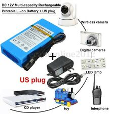 DC 12V Multi-Capacity Rechargeable Portable Li-ion Battery With US Plug