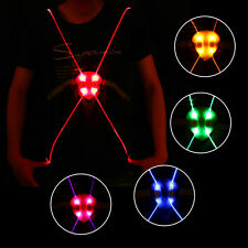 Lightweight LED Running Cycling Reflective Strap Night Safety Vest Jacket BE