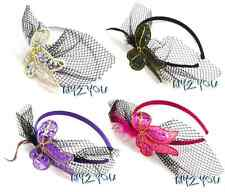 Vintage Style 1920 Great Gatsby Feather Net Sequin Flower Headband Hair Band