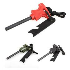 Survival Emergency Tool Kit  Fire Starter Magnesium Rod Flint Striker Stone