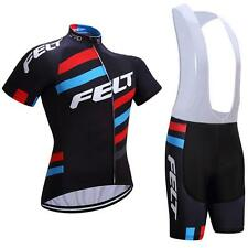 FELT Cycling Clothing Jersey & Bib Shorts Kit Sets Coolmax