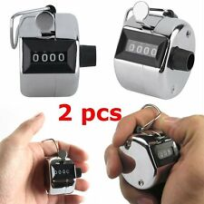 2PCS Sale High Quality Hand held Tally Counter 4 Digit Number Clicker Golf NBE