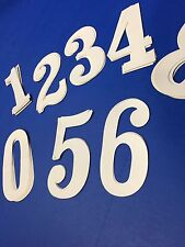 """White BMX 70's Numbers For Vintage Racing Number Plates NOS 5 1/2"""" INCH"""