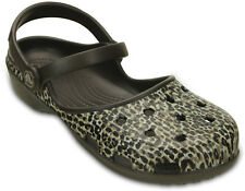 Crocs Karin Leopard Clog Womens Shoes Clogs Sandals Slides