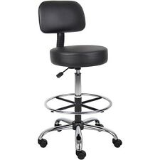 Ergonomic Office Adjustable Drafting Stool Chair Indoor Round Back Cushion Chair