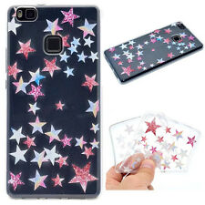 Colorful stars Printed Thin Soft Silicon Rubber Case Cover For Various phones