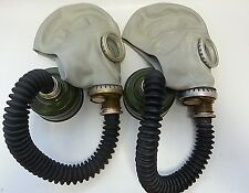 Set of 2 pcs GAS MASK GP-5 Hose Mask Filter New Vintage Soviet Russian WW2