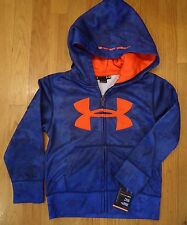 NWT UNDER ARMOUR FULL ZIP HOODIE JACKET NIGHT VISION CAMO HOODY BOYS SIZE 4