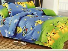 Pokemon Go Pikachu Bedding Set Duvet Cover Set Pillowcase Bed Sheet 4pcs Set