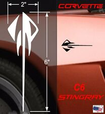 "USA Made QUALITY STINGRAY Vinyl Decal 2"" x 6"" 4pcs (Fits Chevy CORVETTE C6 & C7)"