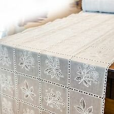 Table runner Table Runner Crochet Lace Optik Vinyl/PVC Cottage