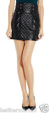 New Womens Mini Designer Skirt Genuine Soft Lambskin Leather Skirt For Women-02