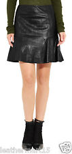New Womens Mini Designer Skirt Genuine Soft Lambskin Leather Skirt For Women-15